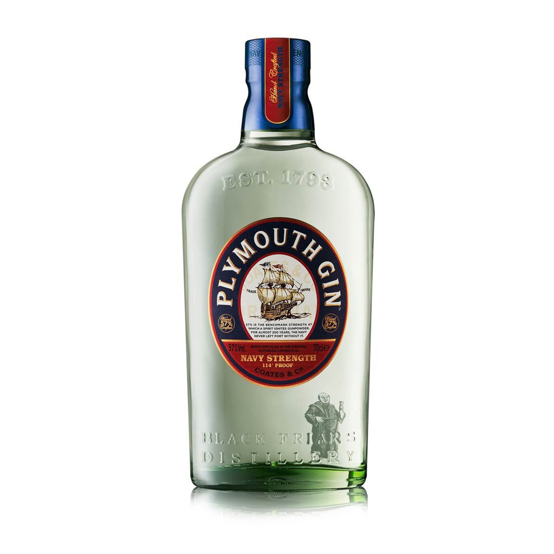 Playmouth Navy Strenght Gin - 70cl - Black Frias Distillery