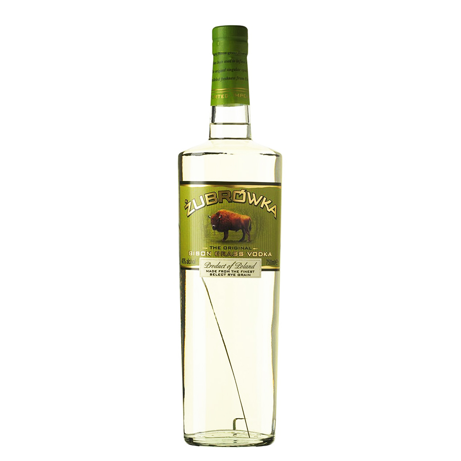 Zubrowka Bison Grass Vodka - 100cl - Polmos Bialystok