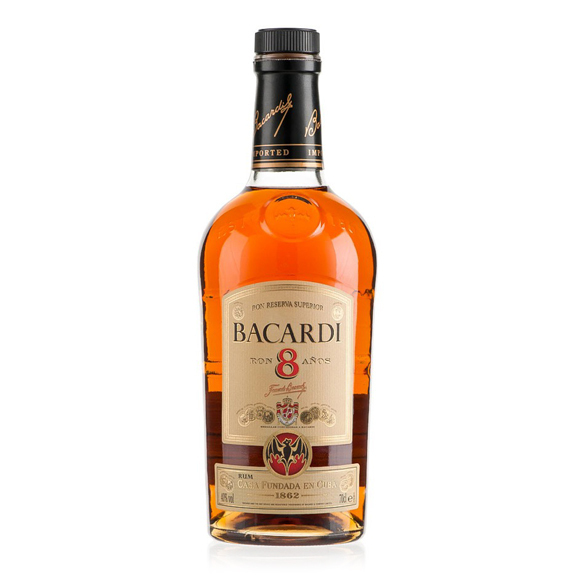 Rum Reserva Superior - 8 Years Old - 70cl - Bacardi
