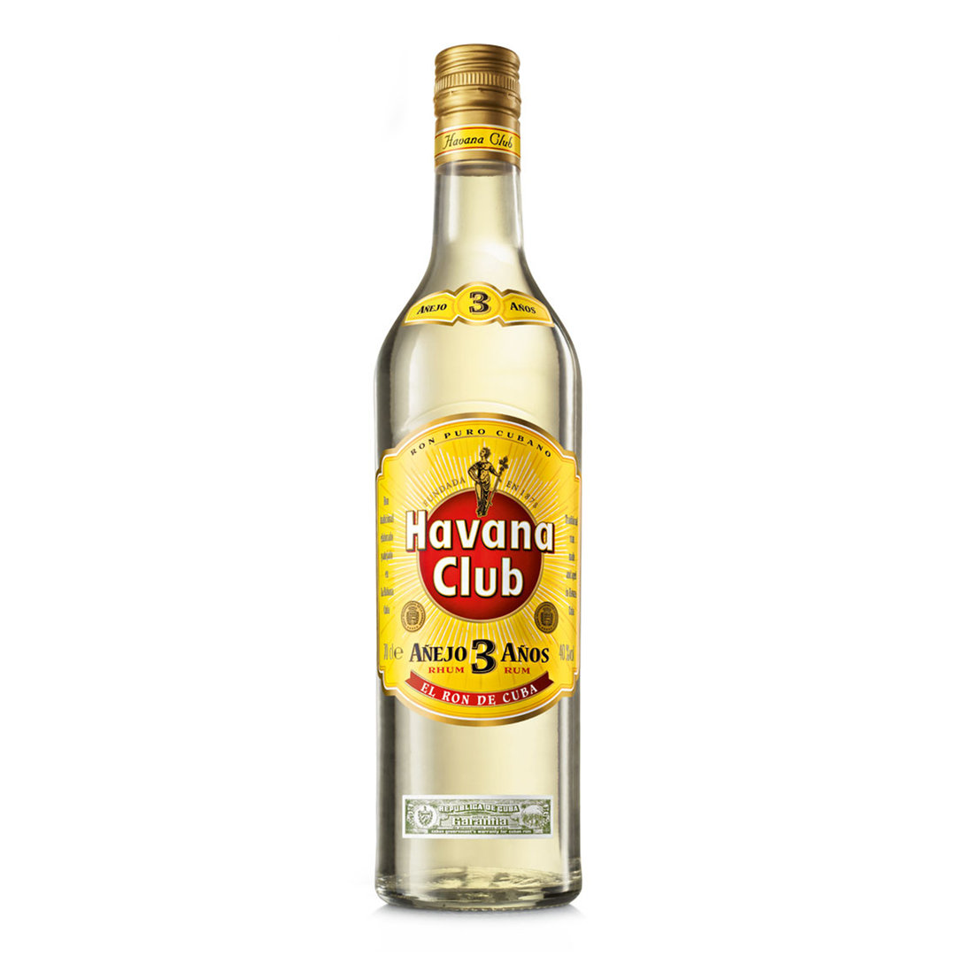 Ron Anejo 3 Years Old Rum - 70cl - Havana Club
