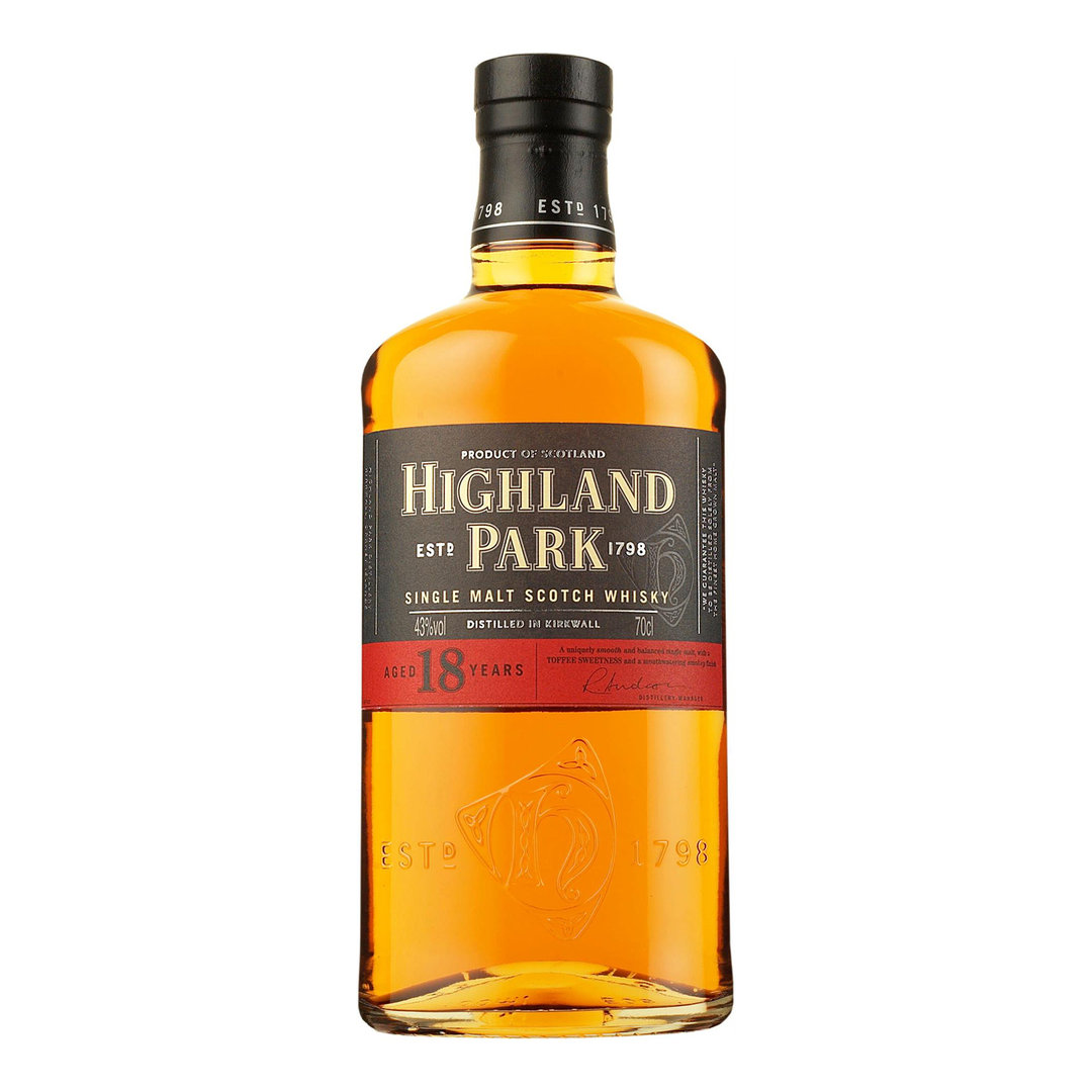 Higland Park 18 Years Single Malt Scotch Whisky - 70cl - Higland Park Distillery