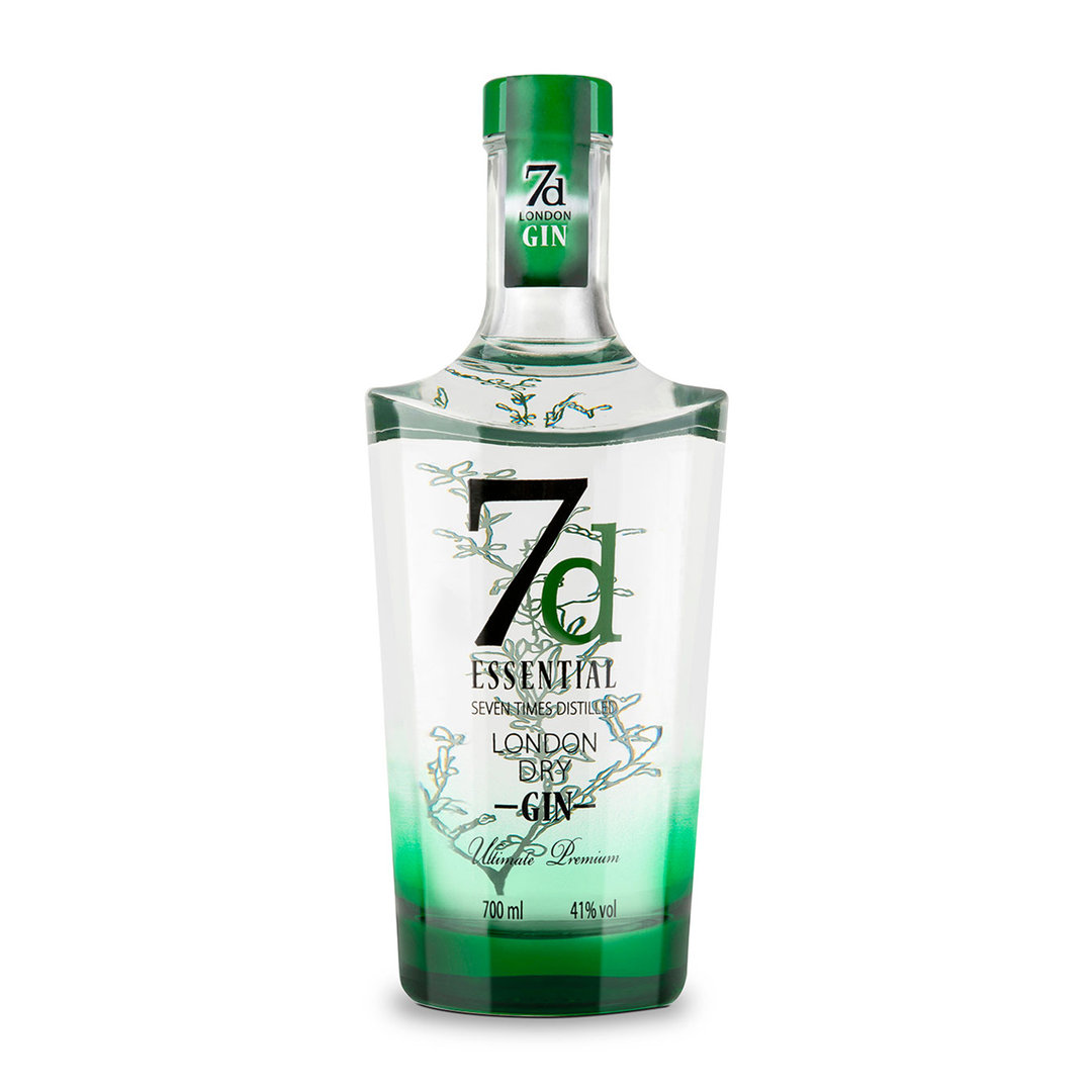 7D Essetial Seven Time Distilled London Dry Gin - 70cl - 7D Distillery