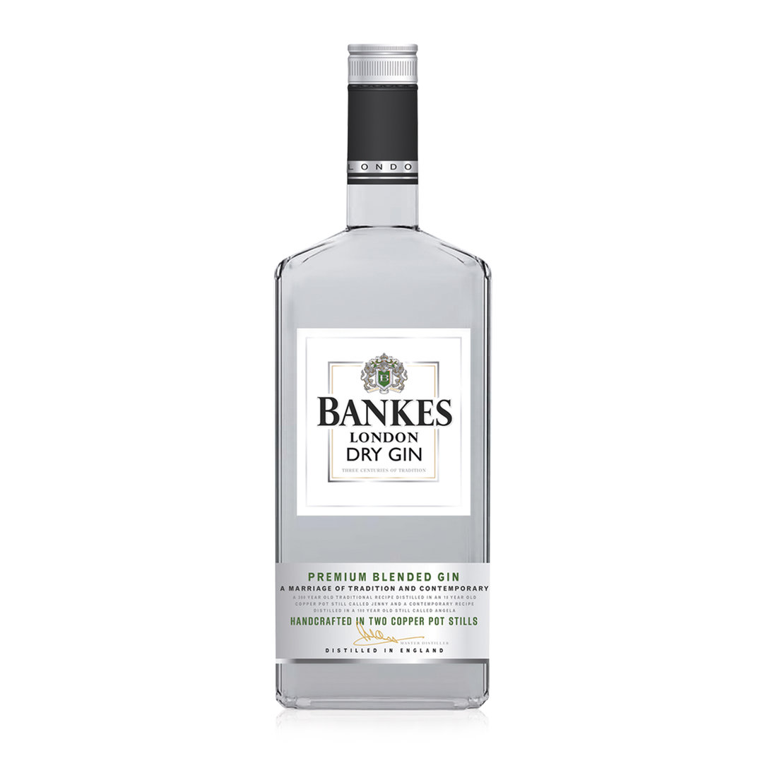 Bankes London Dry Gin Premium Blended - 100cl - Langley