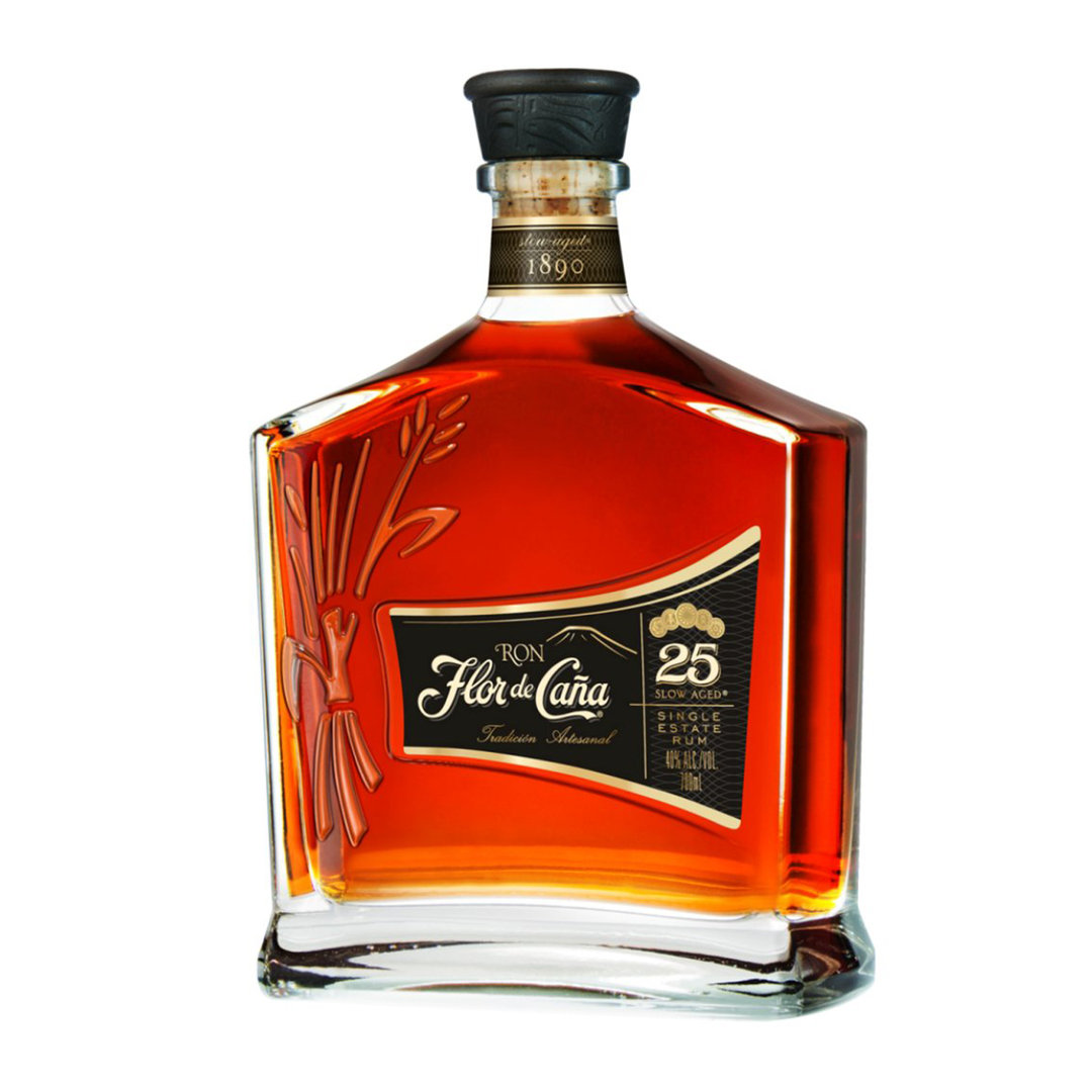 Single Estate Rum 25 Years Old Slow Aged - 70cl - Flor de Cana