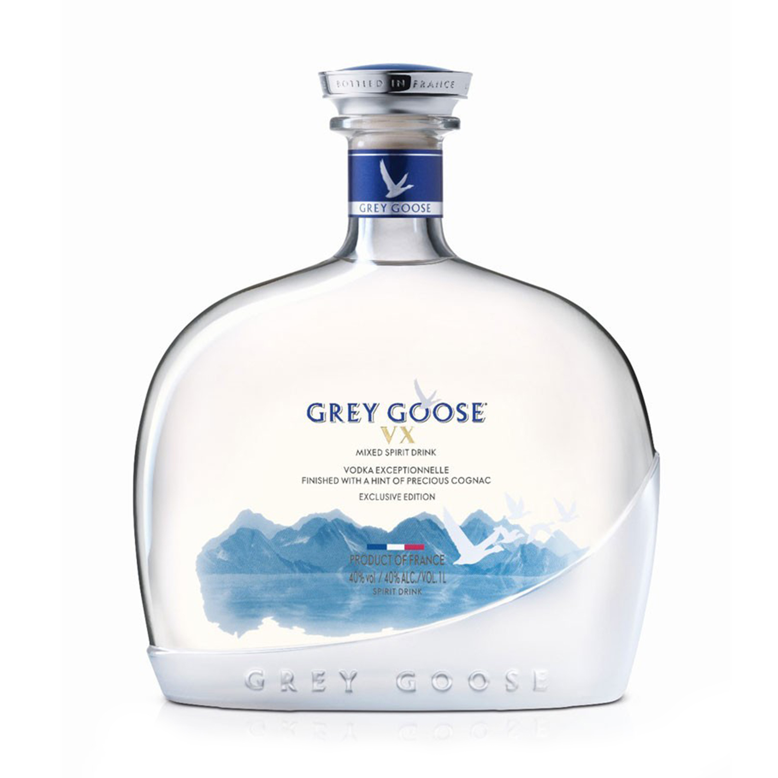 French Vodka VX Exceptionnelle - 100cl - Grey Goose