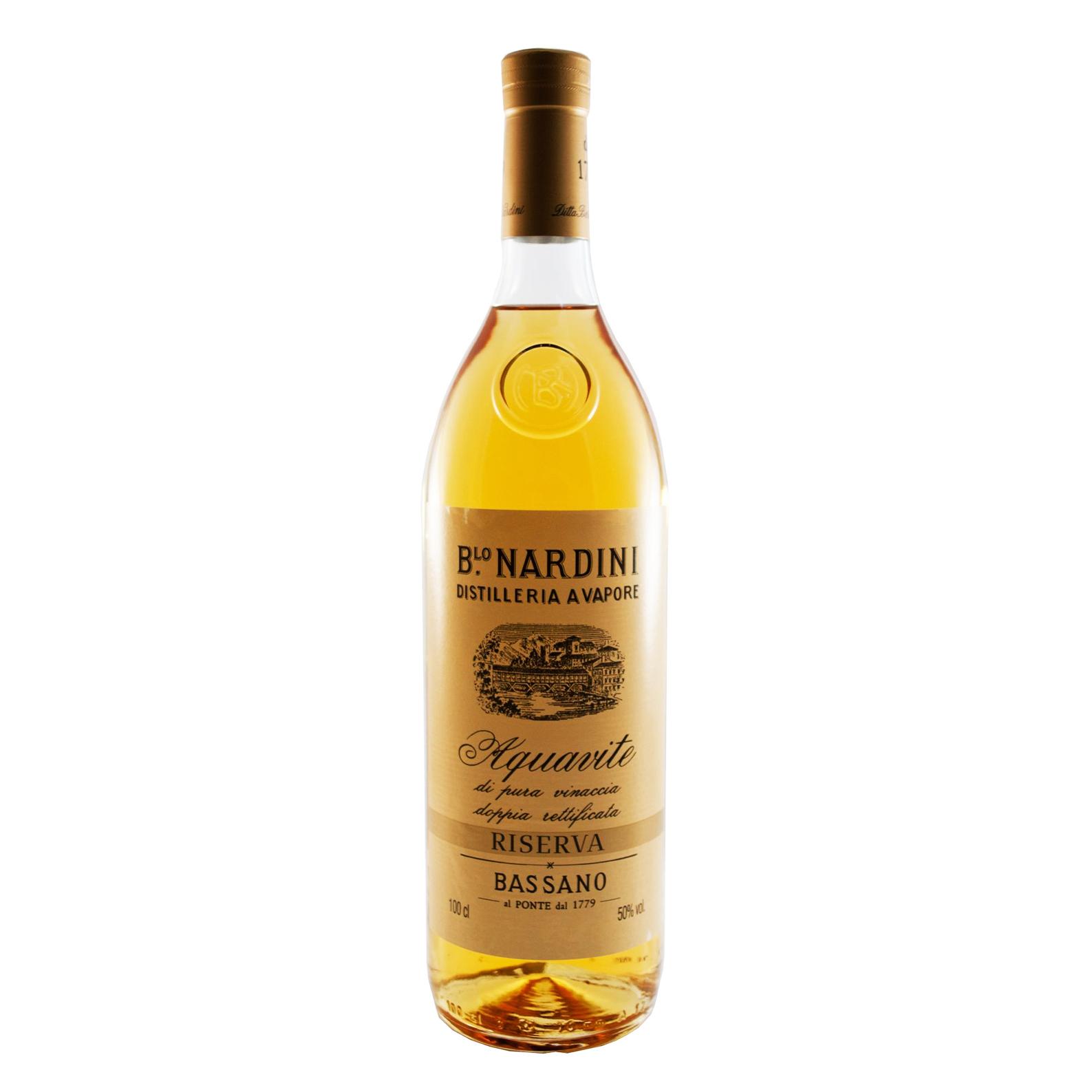grappa nardini  Acquavite di Pura Vinaccia Riserva - 1L - Grappa - B.lo Nardini